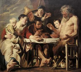 Jordaens / Satyr and the Peasants /C1600