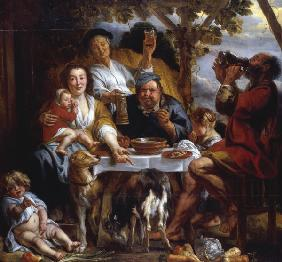 Jordaens,J./The Porridge Eater/1640-50