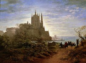 K.F.Schinkel, Gothic church on cliff