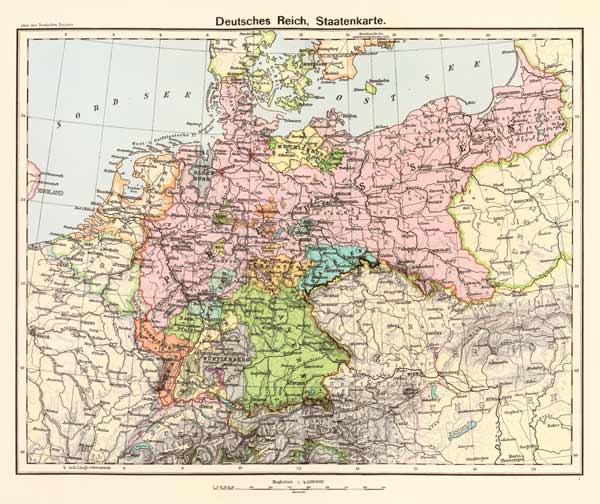 landkarte des deutschen reiches 1902 artist artist als kunstdruck oder handgemaltes gem lde. Black Bedroom Furniture Sets. Home Design Ideas
