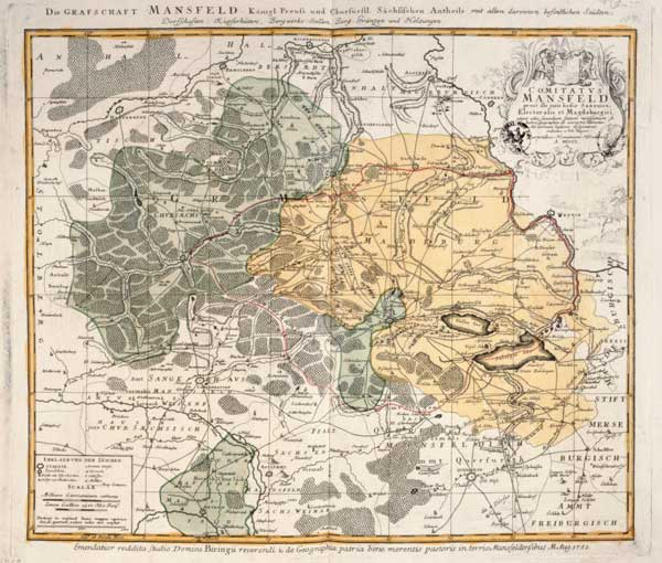 landkarte grafschaft mansfeld 1750 artist artist als kunstdruck oder handgemaltes gem lde. Black Bedroom Furniture Sets. Home Design Ideas