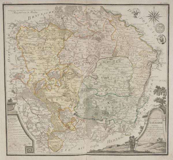 landkarte der altmark 1788 artist artist als kunstdruck oder handgemaltes gem lde. Black Bedroom Furniture Sets. Home Design Ideas