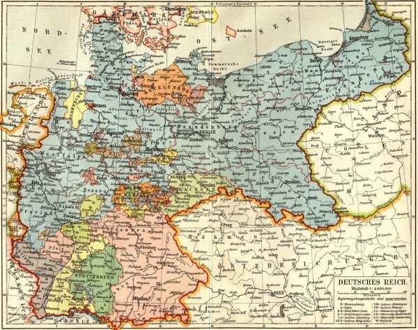 landkarte des deutschen reiches 1903 artist artist als kunstdruck oder handgemaltes gem lde. Black Bedroom Furniture Sets. Home Design Ideas