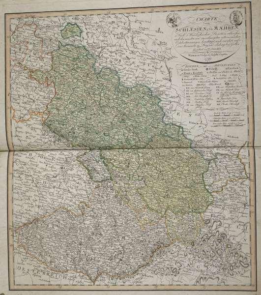 landkarte schlesien und m hren 1799 artist artist als kunstdruck oder handgemaltes gem lde. Black Bedroom Furniture Sets. Home Design Ideas
