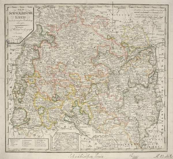 landkarte schw b kreis 1804 artist artist als kunstdruck oder handgemaltes gem lde. Black Bedroom Furniture Sets. Home Design Ideas