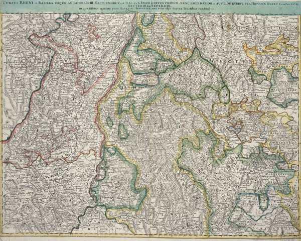 landkarte vom oberrhein um 1720 artist artist als kunstdruck oder handgemaltes gem lde. Black Bedroom Furniture Sets. Home Design Ideas