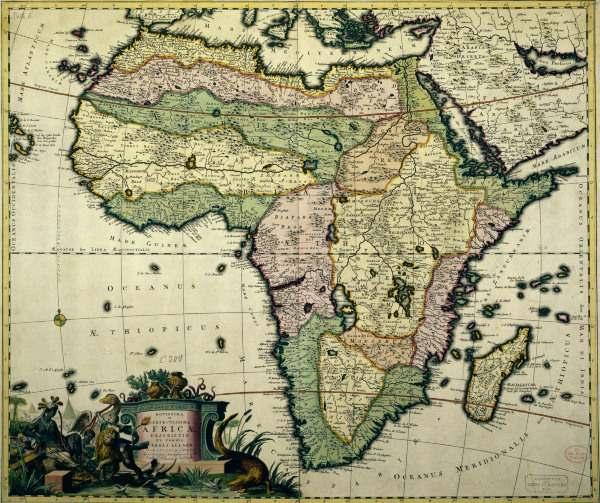landkarte von afrika von allard um 1700 artist artist als kunstdruck oder handgemaltes gem lde. Black Bedroom Furniture Sets. Home Design Ideas