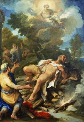 Luca Giordano / Hercules on the pyre
