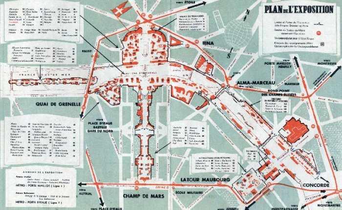 Map of the world fair, Paris - als Kunstdruck oder ...