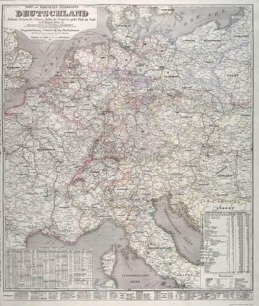 mitteleuropa landkarte 1851 artist artist als kunstdruck oder handgemaltes gem lde. Black Bedroom Furniture Sets. Home Design Ideas