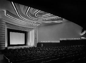 Movie theater Normandie in Paris built in 1937, Art Deco style, architects Pierre de Montaut and Adr