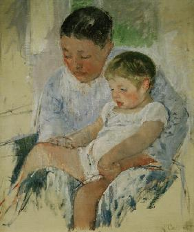 M. Cassatt, Jenny and her sleepy child.
