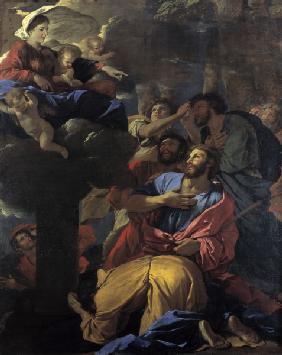 Mary appears to James the Great/ Poussin