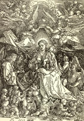 Mary as Queen of Angels / Dürer / 1518