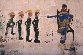 Mural, Lebanese Civil War (colour photo)
