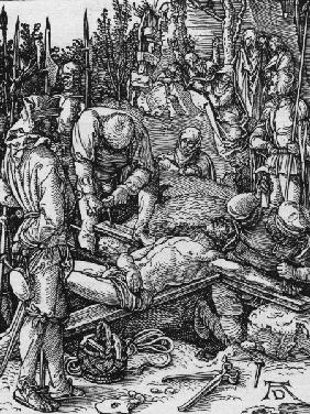 Nailing to the Cross / Dürer / c.1509