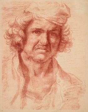 Nicolas Poussin /Self-Portrait/Red Chalk