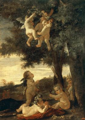 N.Poussin / Cupids and Genii / 1630