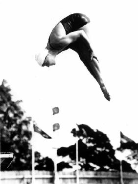 Pat Mc Cormick the first diver to win back-to-back Olympic gold medals in platform and springboard d in 1952 an