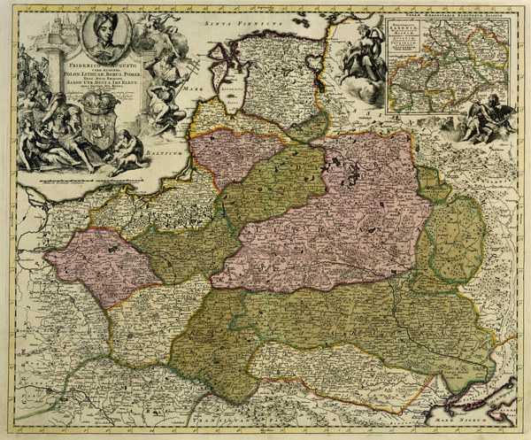 polen landkarte 1704 artist artist als kunstdruck oder handgemaltes gem lde. Black Bedroom Furniture Sets. Home Design Ideas