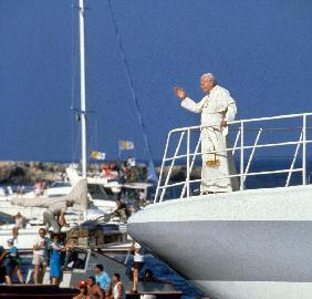 Pope John Paul II during travel in USA in 1979