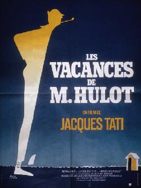 Poster after Pierre Etaix for film Monsieur Hulot's Holiday by Jacques Tati 1953