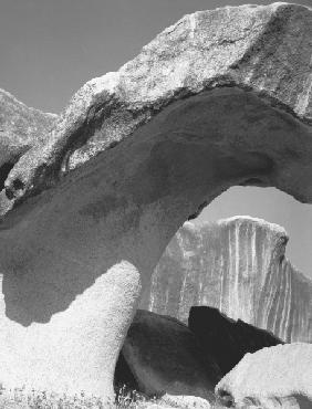 Rocks at Idar (b/w photo)