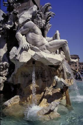 Rome, Fontana dei Fiumi, Ganges / Photo