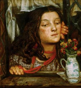 Rossetti / Girl at a lattice / Painting