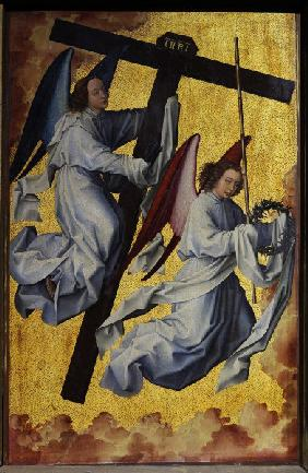 R.v.d.Weyden, Angels,instruments Passion