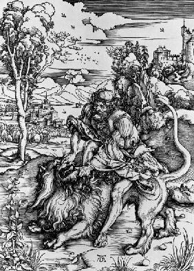 Samson defeats the Lion/ Duerer/ 1496/97