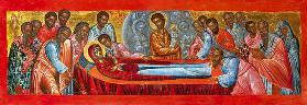 The Dormition of the Mother of God Greek icon
