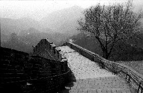the Great Wall of China, photo taken February 2