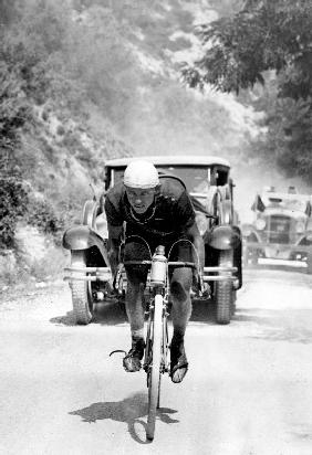 Tour de France 1929, 13th leg Cannes/Nice on July 16 : Benoit Faure on the Braus pass 1929