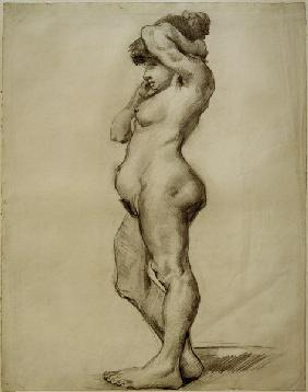 V.van Gogh, Standing Female Nude /Draw.