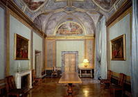 View of the 'Camerino' with frescoes by Annibale Carracci (1560-1609) 1596 (photo) 17th