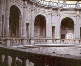 View of the upper portico, designed by Jacopo Vignola (1507-73) and his successors for Cardinal Ales