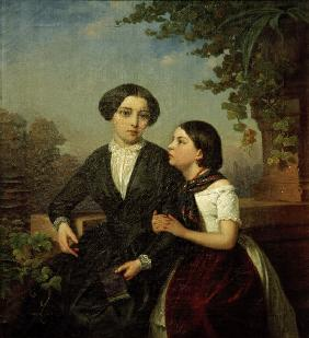 Winterhalter / Two girls on balcony