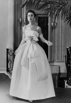 White evening dress by Dior February 1
