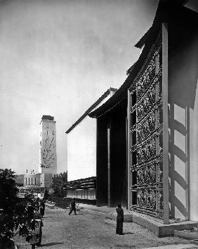 World Fair, Paris: the pavilion of metal : wrought iron door by Raymond Subes 1937