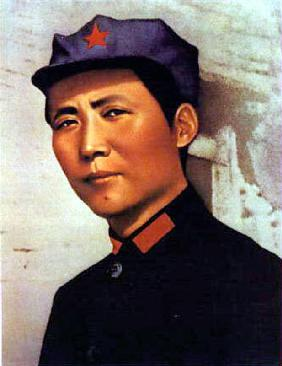 young Mao Tse Zedong poster for 1000 years of life for President Mao c. 1921 at time of creation of