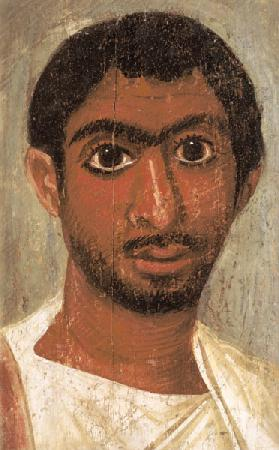Portrait of a man from the 'Pollius Soter' group said to have been found at Thebes, Severan, Egyptia 15th