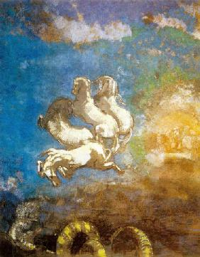 The chariot of Apollo, pastel by Odilon Redon, coll. musee d'Orsay-Paris 1905-1914