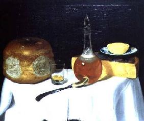 Still life with bread and cheese (pair of 78162)