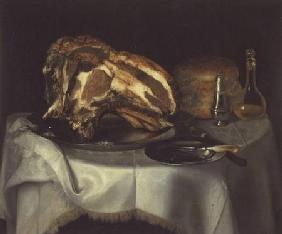 Still Life with Joint of Beef on a Pewter Dish c.1750-60