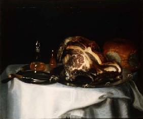 Still life with meat and bread (pair of 78161)