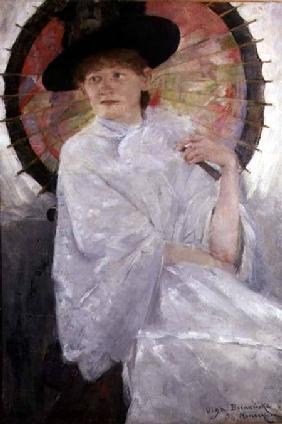 Portrait of a Lady with a Japanese Parasol