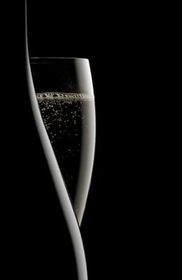 Champagner flasche und glas oliver digeon von monteton - Wandfarbe champagner ...