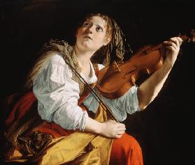 Young Woman with a Violin 1612