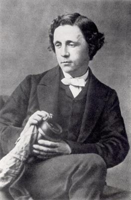 Portrait of Lewis Carroll (1832-98) (b/w photo)